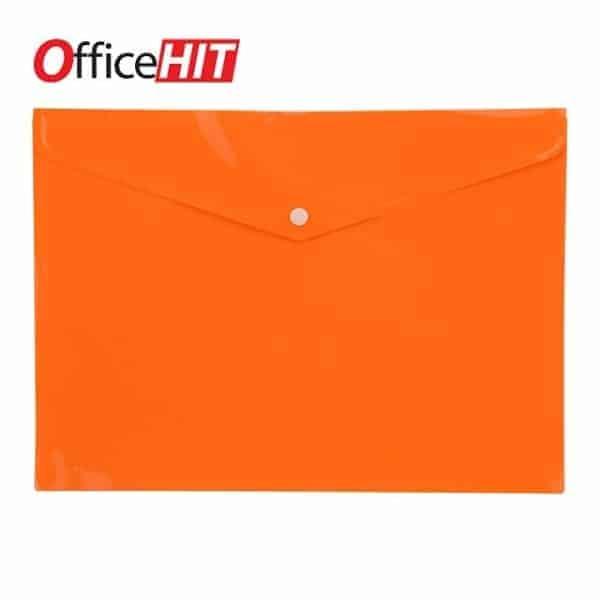 Папка с копче 735 OFFICEHIT 200микр., оранжева