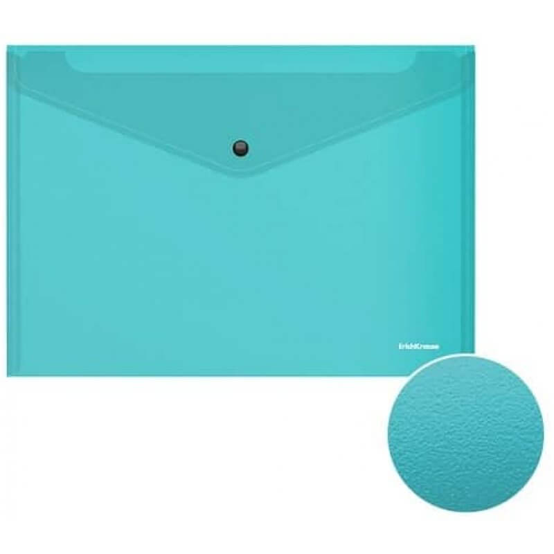 Папка с копче Envelope folder ErichKrause Fizzy Vivid 47423, А4, асорти -3