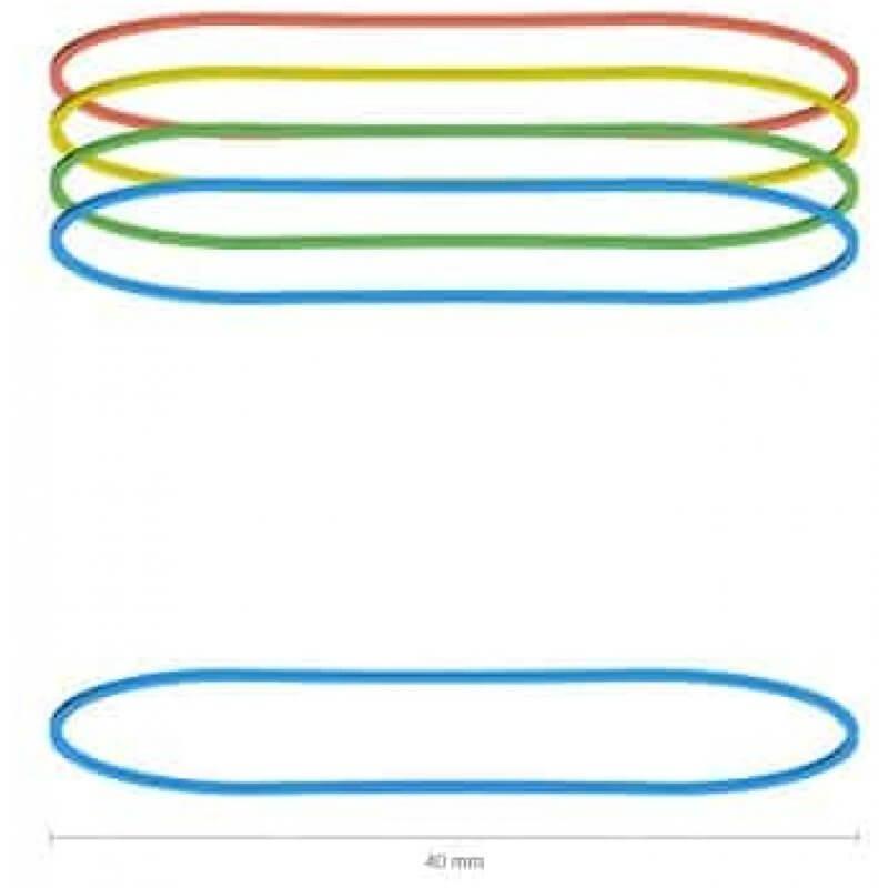 Цветни ластици ErichKrause, ф 40 мм, 100 грама, микс