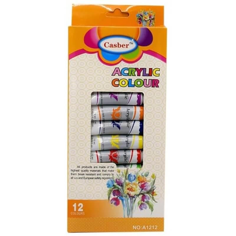 Акрилни бои в тубички В-мах 12мл. 12 цвята