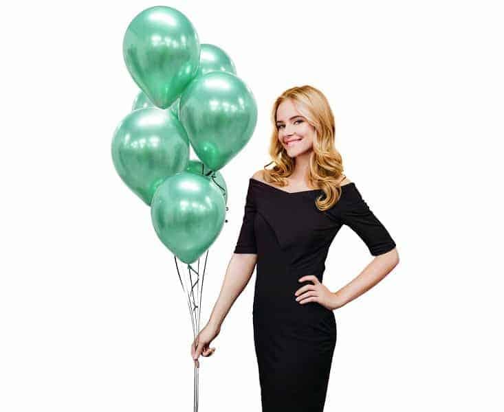 Балони Beauty & Charm, платинено зелени, 7 бр.