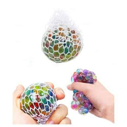 Антистрес играчка Mesh Squishy Ball, желе в мрежа, мозък