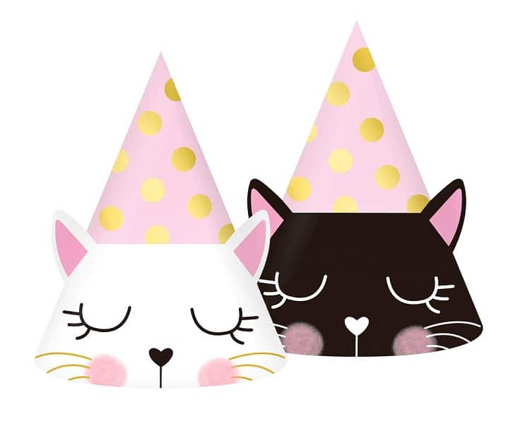 Парти шапки Коте, 6 броя