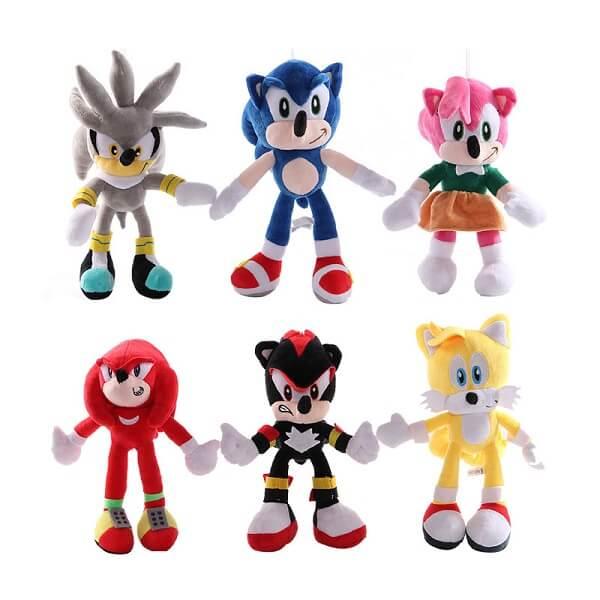 Соник плюшена играчка, варианти, Таралежа Sonic, 45 см